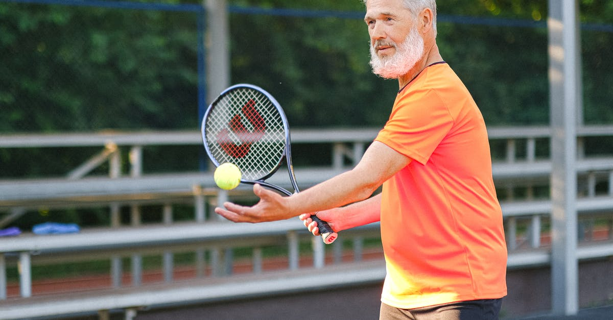 A person on a court with a racket